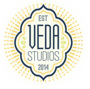 """Veda Studios logo says """"established 2014"""""""