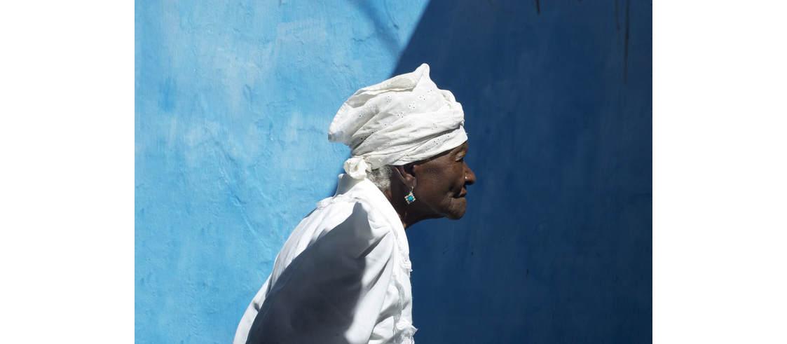 Photo of Mãe Filhinha of Yemanjá-Ogunté, featured in the film Yemanjá. Copyright 2013 by Gerald Lee Hoffman