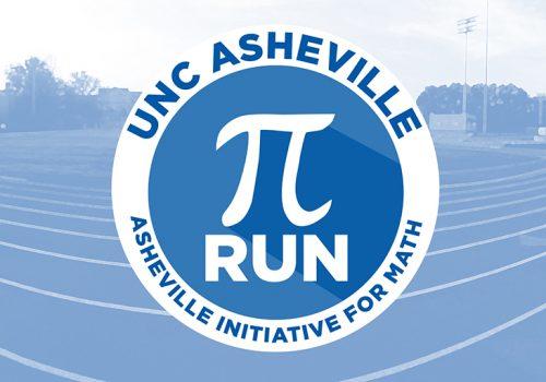 Pi symbol superimposed over image of running track