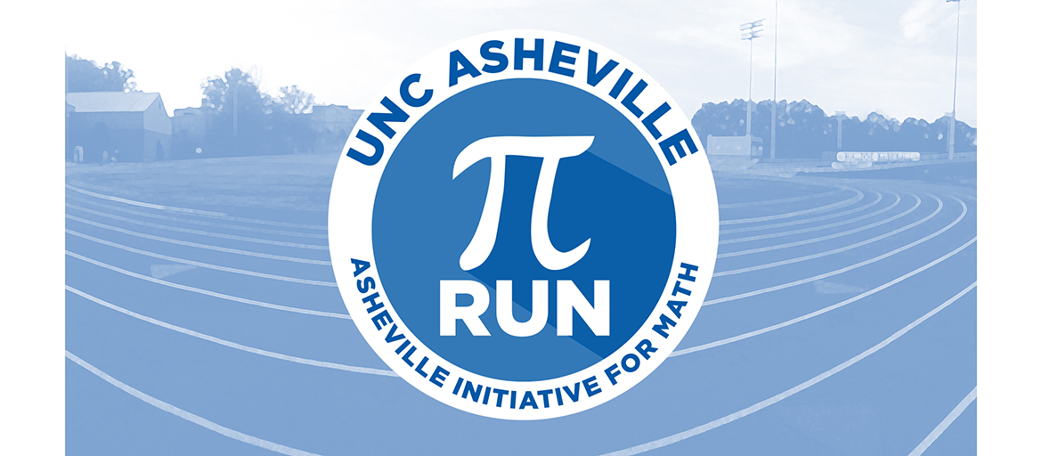 Pi symbol superimposed over image of running track