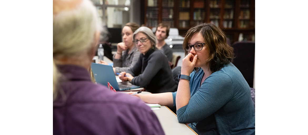 Students in the spring 2019 MLAS course, Collecting and Preserving the Cultural Record, taught by UNC Asheville's Ramsey Library Archivist Gene Hyde