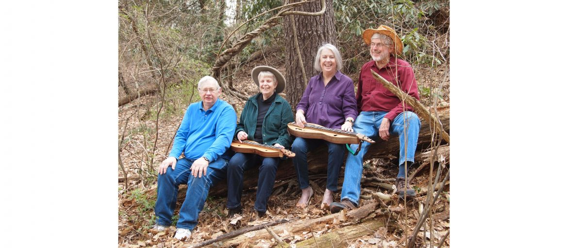 (from left) Jeff Robel, Mary Mackenzie, Kathie Nelson, Allan Brown and the rest of the Reuter Center Singers will pay tribute to mountain music heritage in two concerts, May 4 and 5, at UNC Asheville.