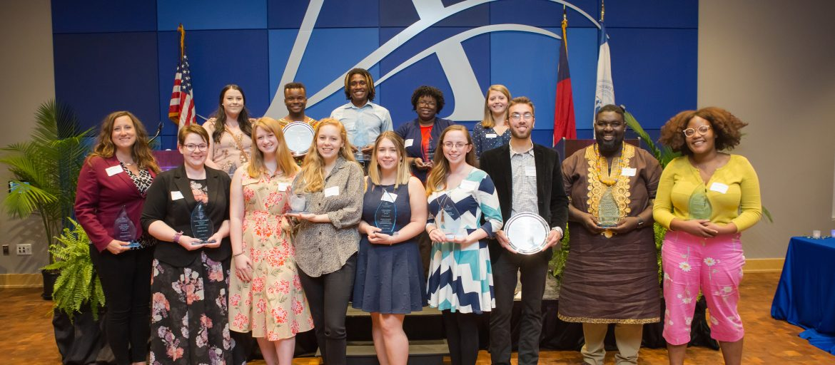 2019 student and faculty leadership award winners.