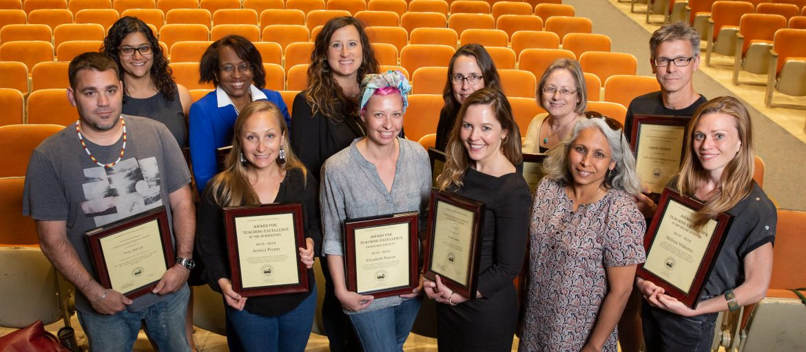 UNC Asheville's award-winning faculty for the 2018-19 academic year.