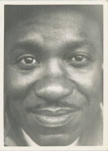 Closeup of the face of Isaiah Rice circa 1948