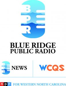 Blue Ridge Public Radio logo has microphone/mountain image and WCQS