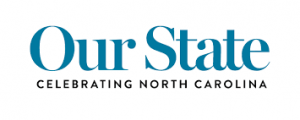Our State magazine logo also says Celebrating North Carolina