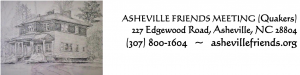 Asheville Friends Meeting has a drawing of its building plus contact information