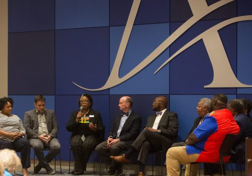 Speakers at a roundtable on diversity and inclusion