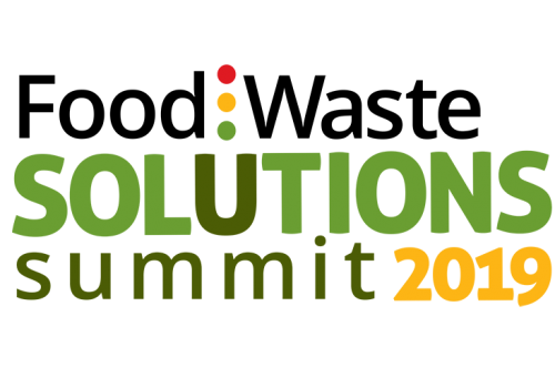 Logo says Food Waste Solutions Summit 2019 with no pictures