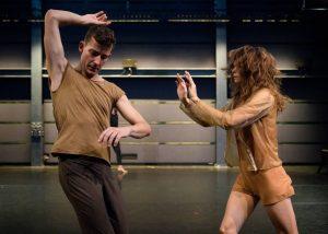 Male and female dancers