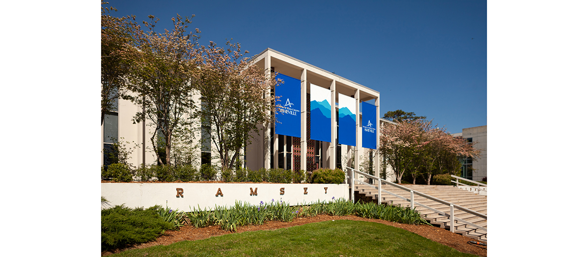 Ramsey Library and the UNC Asheville Quad