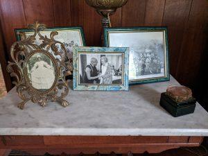 Wilma Dykeman's bureau with family photos