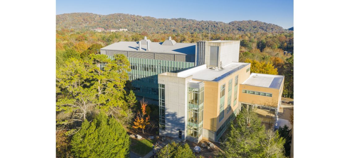 Aerial view of Zeis Hall