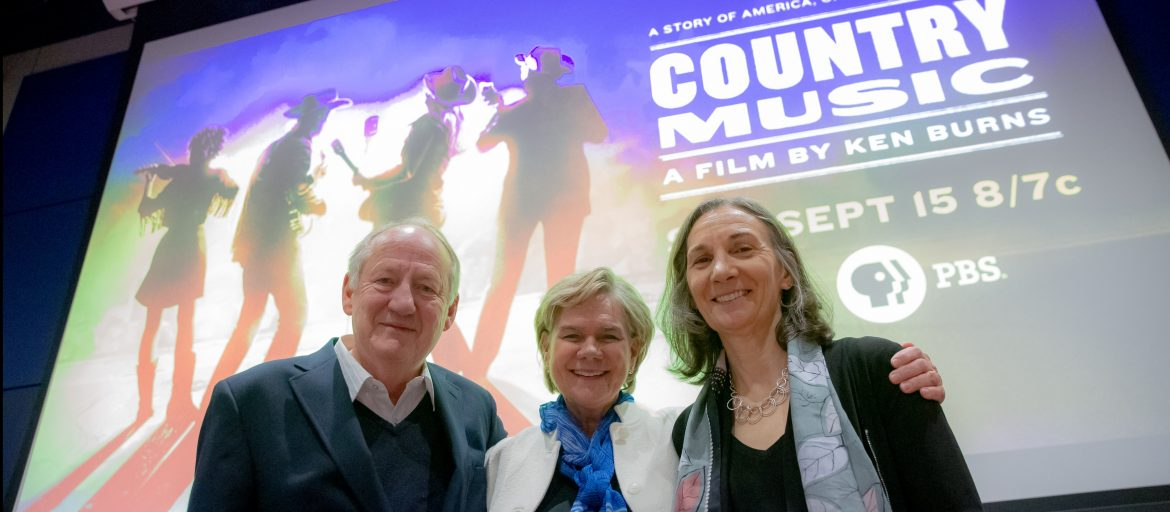 "Chancellor Cable with the producers of Ken Burn's documentary ""Country Music"""