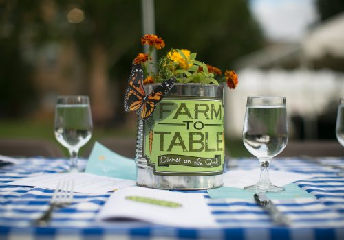Farm-to-Table place setting with flowers
