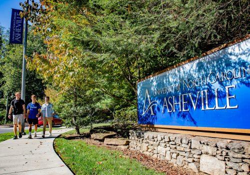 UNC Asheville sign