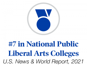 #7 in National Public Liberal Arts Colleges by U.S. News & World Report ranking graphic